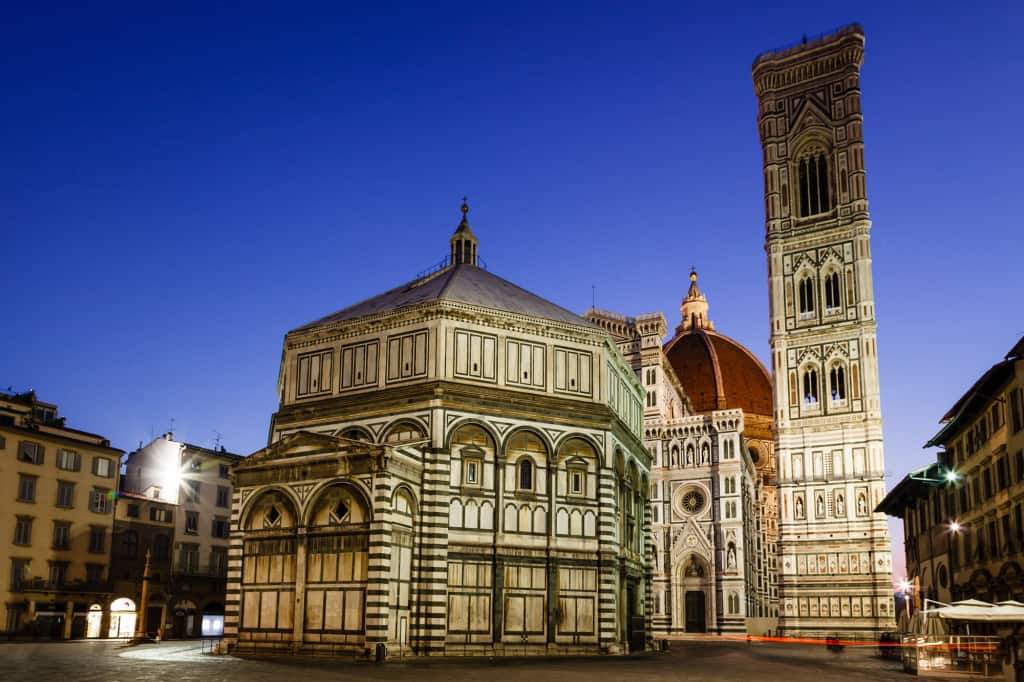 The Florence Baptistry at first light (6am)